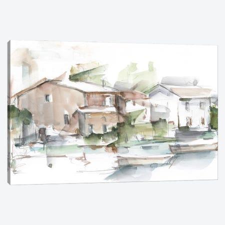 Serene Lakefront I Canvas Print #EHA1050} by Ethan Harper Art Print