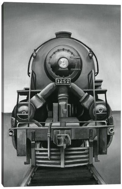 Vintage Train Canvas Art Print