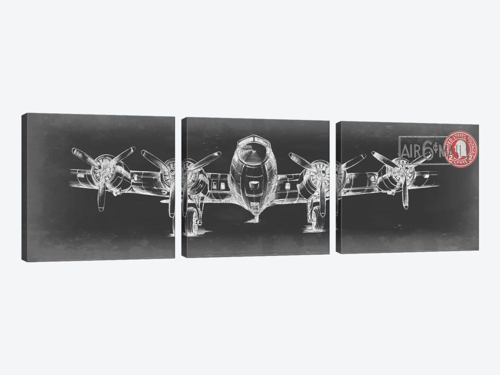 Aeronautic Collection VI by Ethan Harper 3-piece Canvas Print