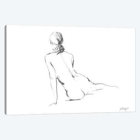 Figure Contour I Canvas Print #EHA115} by Ethan Harper Art Print