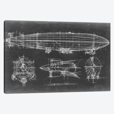 Airship Blueprint Canvas Print #EHA11} by Ethan Harper Canvas Artwork