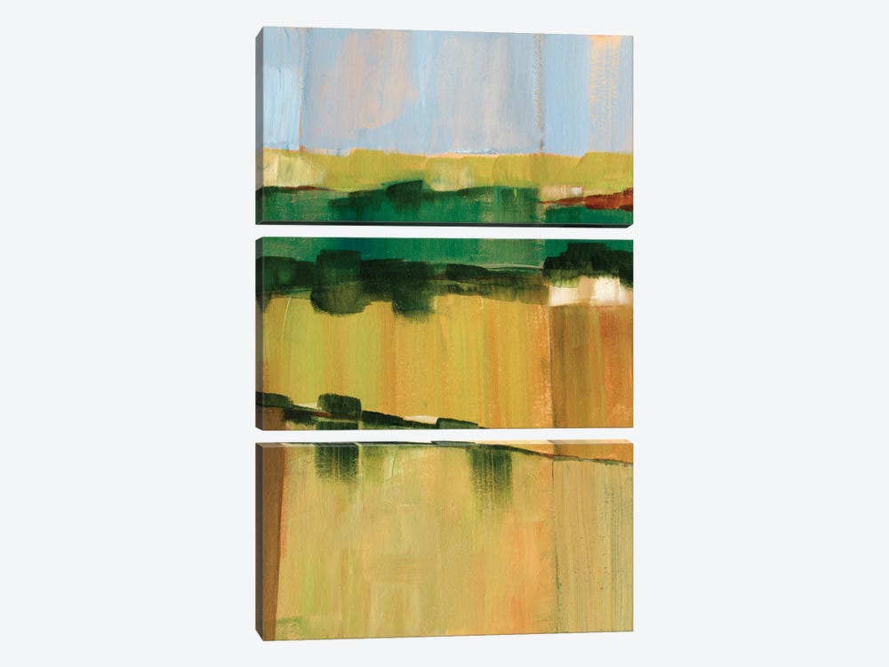 Pasture Abstract I by Ethan Harper 3-piece Canvas Wall Art