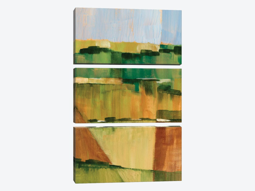 Pasture Abstract II 3-piece Canvas Print