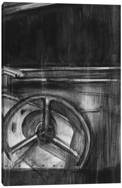 Vintage Cockpit Triptych Panel III Canvas Art Print