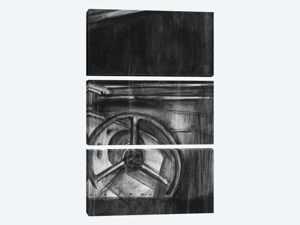 Vintage Cockpit Triptych Panel III by Ethan Harper 3-piece Canvas Artwork