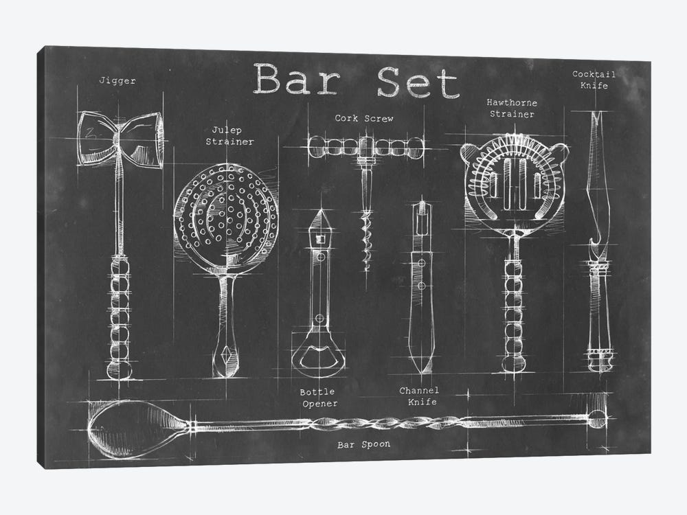 Bar Set by Ethan Harper 1-piece Canvas Art Print
