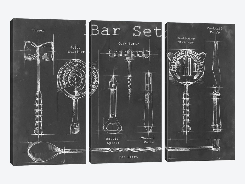 Bar Set by Ethan Harper 3-piece Art Print