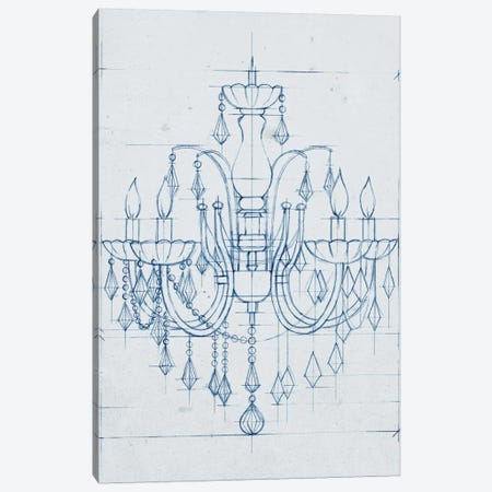 Chandelier Draft I Canvas Print #EHA153} by Ethan Harper Canvas Wall Art