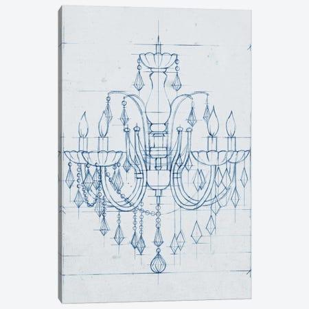 Chandelier Draft I Canvas Print #EHA153} by Ethan Harper Canvas Wall Art