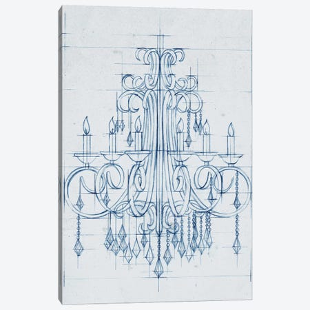 Chandelier Draft II Canvas Print #EHA154} by Ethan Harper Canvas Art Print