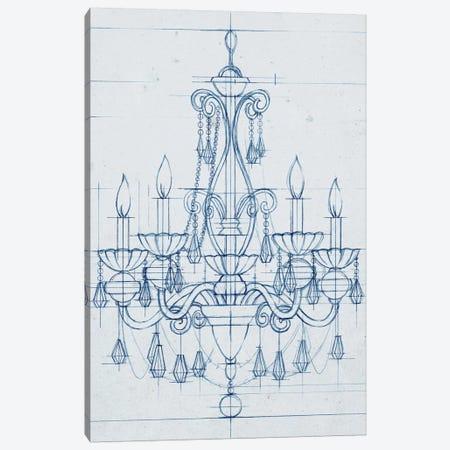 Chandelier Draft III Canvas Print #EHA155} by Ethan Harper Art Print