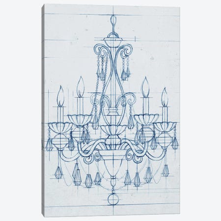 Chandelier Draft III Canvas Print #EHA155} by Ethan Harper Art Print
