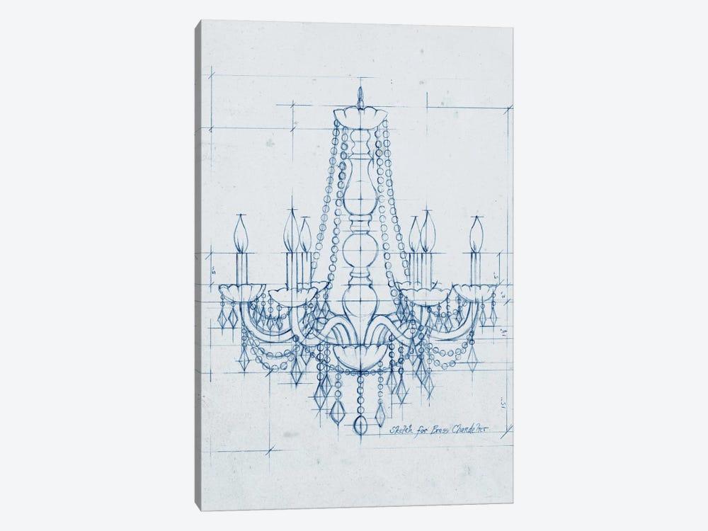 Chandelier Draft IV by Ethan Harper 1-piece Canvas Art Print