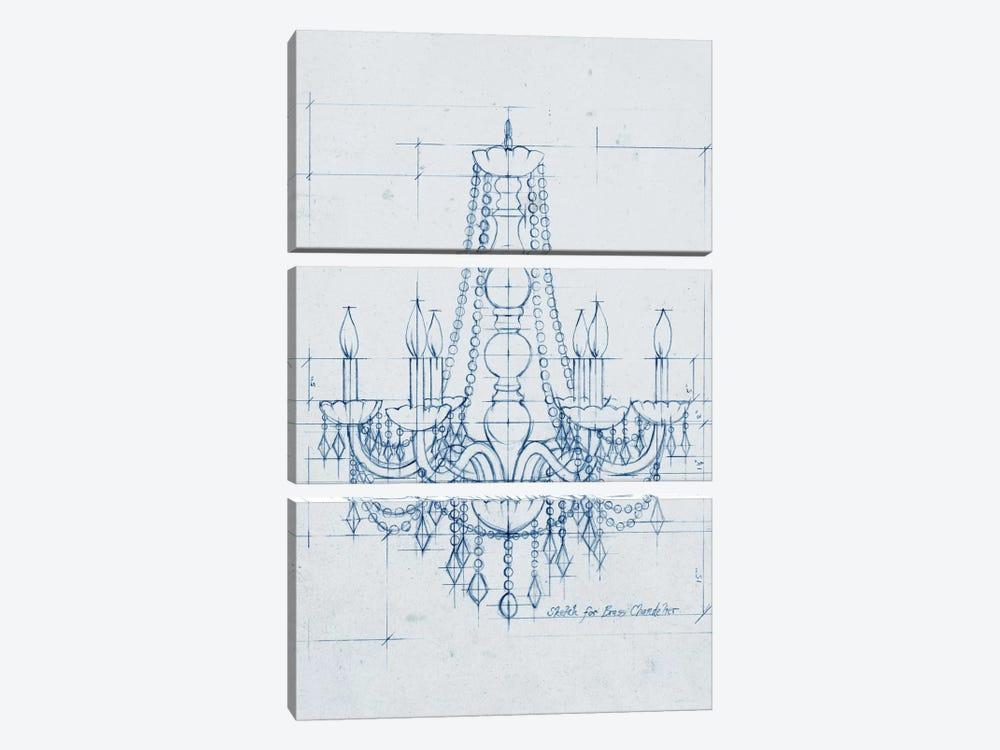 Chandelier Draft IV by Ethan Harper 3-piece Art Print