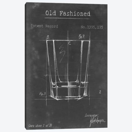 Barware Blueprint I Canvas Print #EHA15} by Ethan Harper Art Print