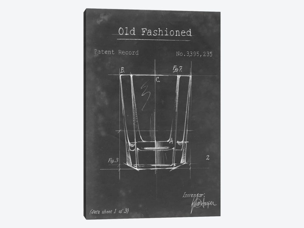 Barware Blueprint I by Ethan Harper 1-piece Canvas Wall Art