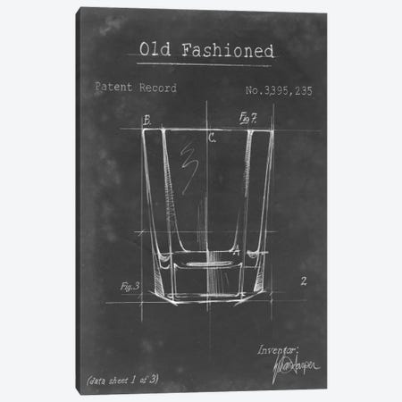 Barware Blueprint I 3-Piece Canvas #EHA15} by Ethan Harper Art Print