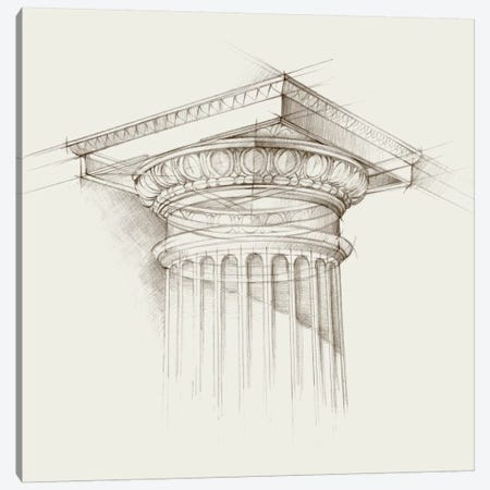 Column Schematic I Canvas Print #EHA161} by Ethan Harper Art Print