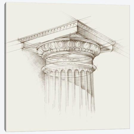 Column Schematic I Canvas Print #EHA161} by Ethan Harper Art Print