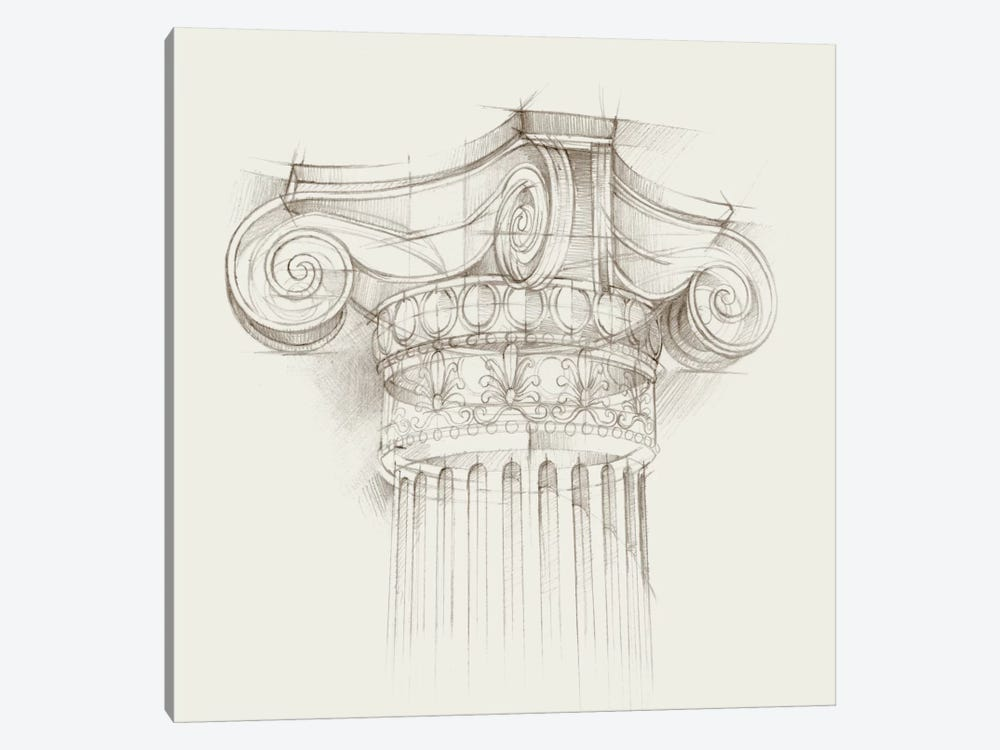 Column Schematic II by Ethan Harper 1-piece Canvas Artwork