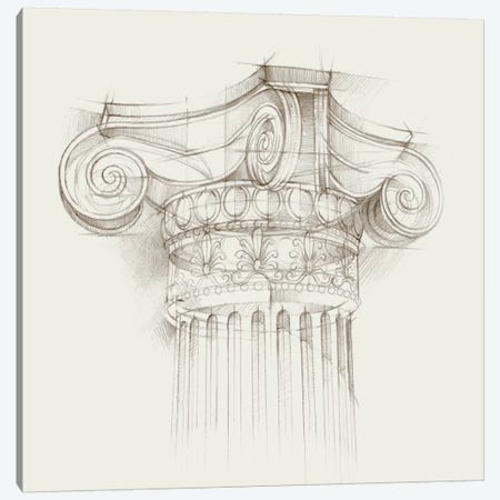 Column Schematic II Canvas Print #EHA162} by Ethan Harper Canvas Art Print