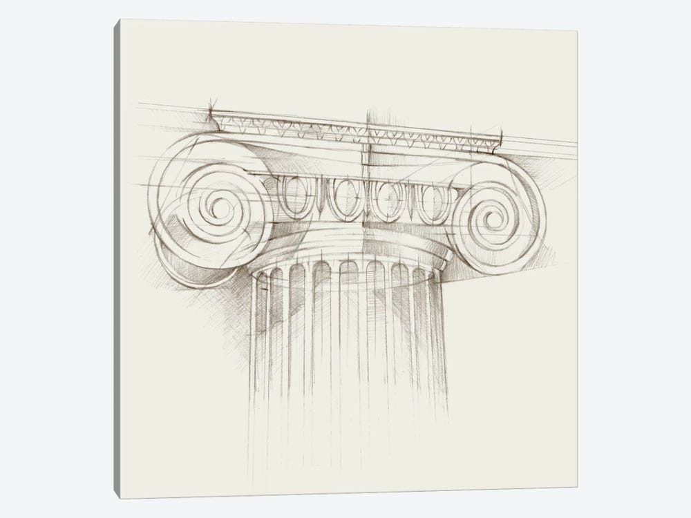 Column Schematic III by Ethan Harper 1-piece Art Print