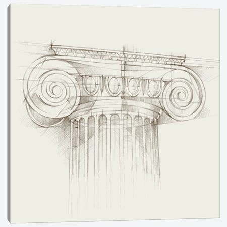 Column Schematic III Canvas Print #EHA163} by Ethan Harper Canvas Art Print