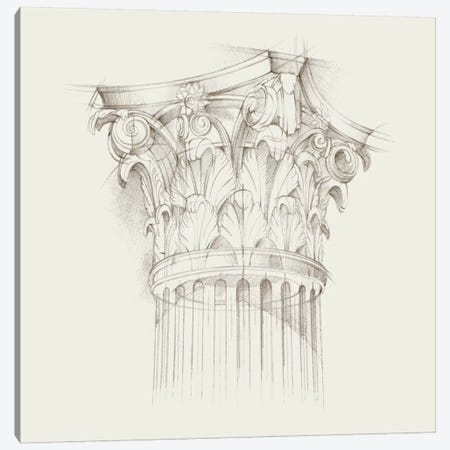 Column Schematic IV Canvas Print #EHA164} by Ethan Harper Canvas Art