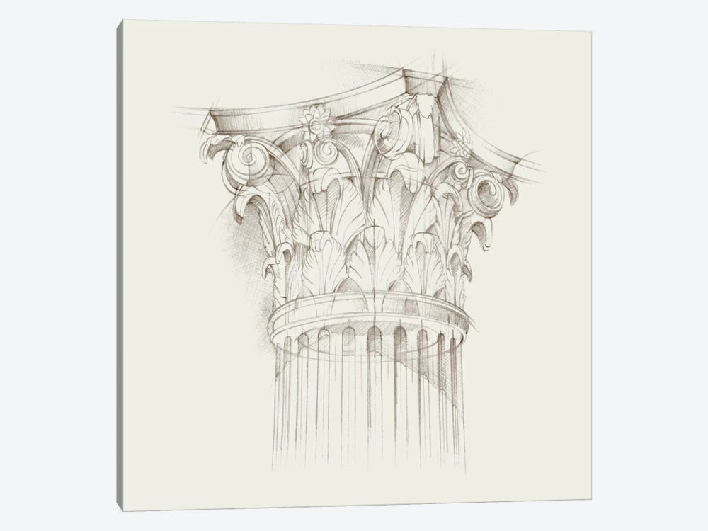 Column Schematic IV by Ethan Harper 1-piece Canvas Art