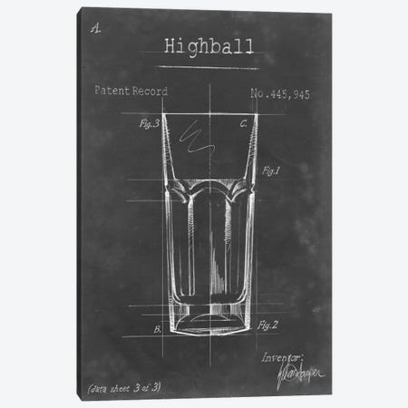 Barware Blueprint II Canvas Print #EHA16} by Ethan Harper Canvas Print