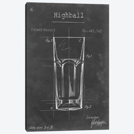 Barware Blueprint II Canvas Print #EHA16} by Ethan Harper Canvas Print