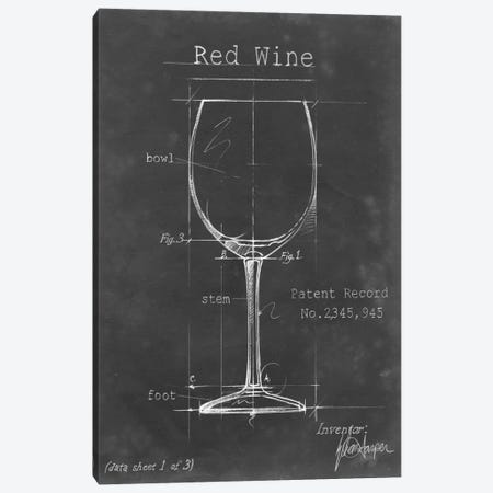 Barware Blueprint III Canvas Print #EHA17} by Ethan Harper Canvas Art Print