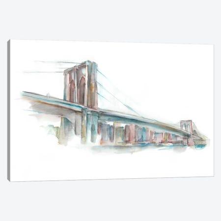 Watercolor Bridge Sketch II Canvas Print #EHA185} by Ethan Harper Canvas Art
