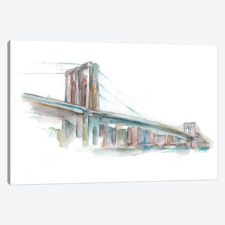 Watercolor Bridge Sketch II Canvas Print #EHA185} by Ethan Harper Canvas Art