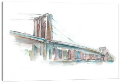 Watercolor Bridge Sketch II Canvas Print #EHA185