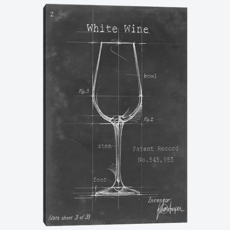 Barware Blueprint IV Canvas Print #EHA18} by Ethan Harper Canvas Wall Art