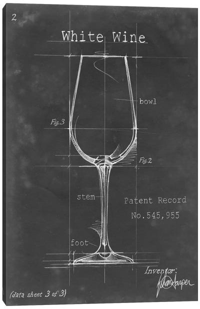 Barware Blueprint IV Canvas Art Print
