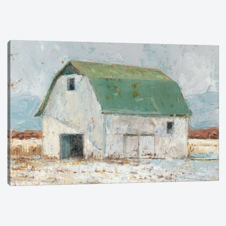 Whitewashed Barn II Canvas Print #EHA191} by Ethan Harper Canvas Wall Art