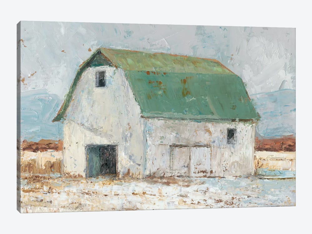 Whitewashed Barn II by Ethan Harper 1-piece Canvas Wall Art