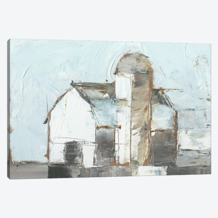 Barn & Silo I Canvas Print #EHA192} by Ethan Harper Canvas Artwork