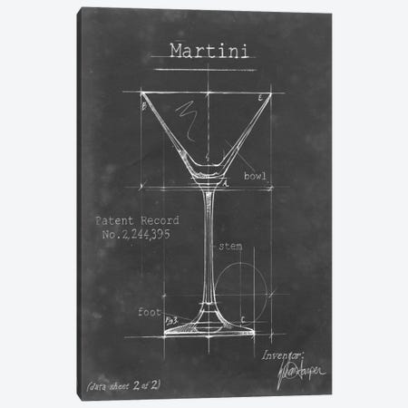 Barware Blueprint V Canvas Print #EHA19} by Ethan Harper Canvas Wall Art