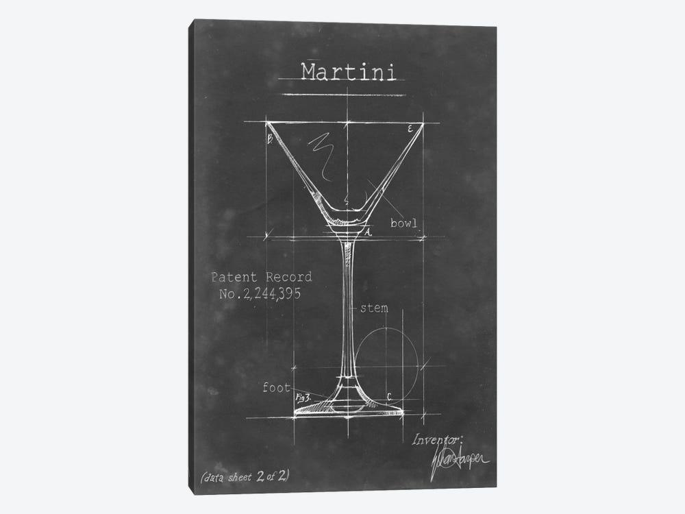 Barware Blueprint V by Ethan Harper 1-piece Canvas Wall Art
