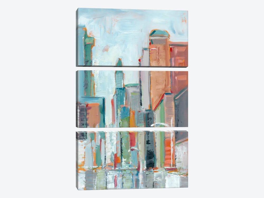 Downtown Contemporary I by Ethan Harper 3-piece Canvas Wall Art