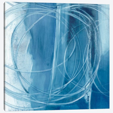 Indigo Expression IV Canvas Print #EHA209} by Ethan Harper Canvas Artwork