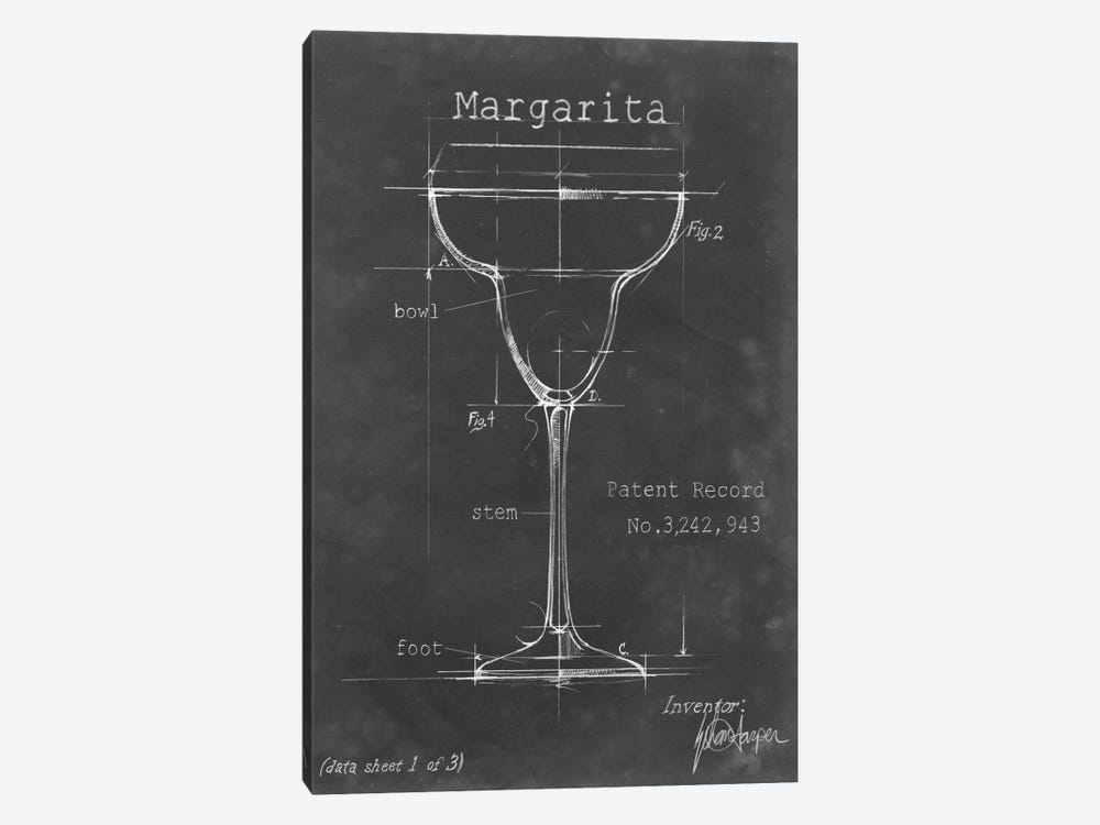 Barware Blueprint VI 1-piece Canvas Wall Art