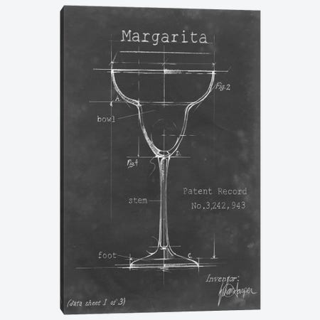 Barware Blueprint VI Canvas Print #EHA20} by Ethan Harper Canvas Print