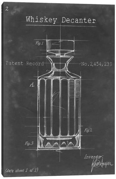 Barware Blueprint VII Canvas Print #EHA21