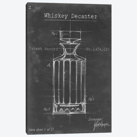 Barware Blueprint VII Canvas Print #EHA21} by Ethan Harper Art Print