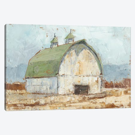 Whitewashed Barn III Canvas Print #EHA225} by Ethan Harper Canvas Art Print