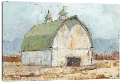 Whitewashed Barn III Canvas Art Print